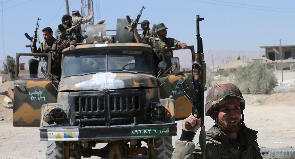 Soldati siriani nella provincia di Homs