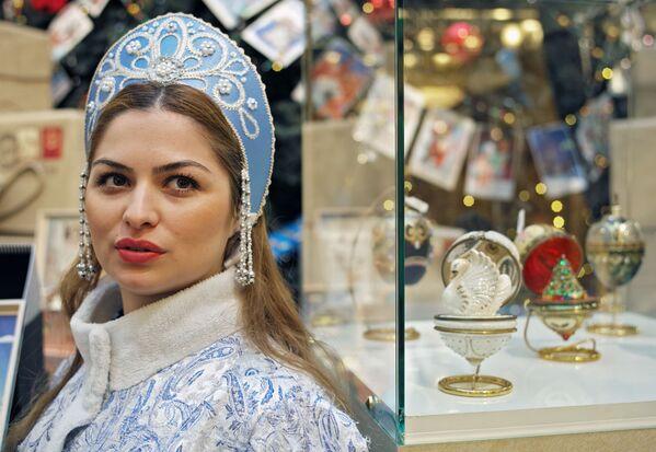 La Fanciulla di Neve nei grandi magazzini GUM, Mosca. - Sputnik Italia