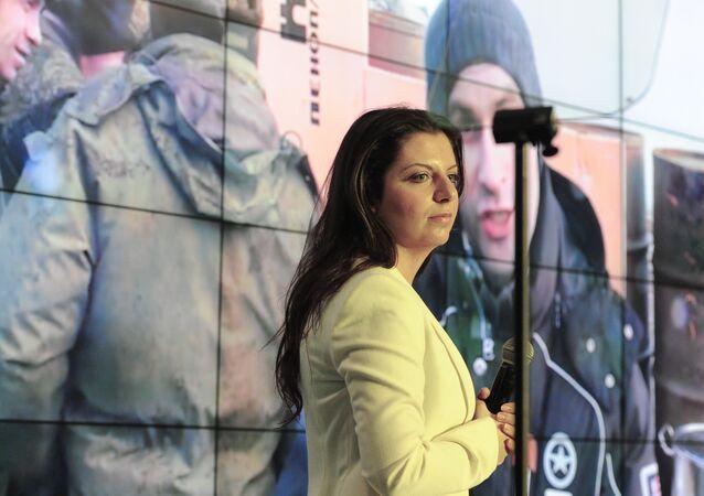 Сapo redattore dell'agenzia di Sputnik e del canale televisivo RT, Margarita Simonian
