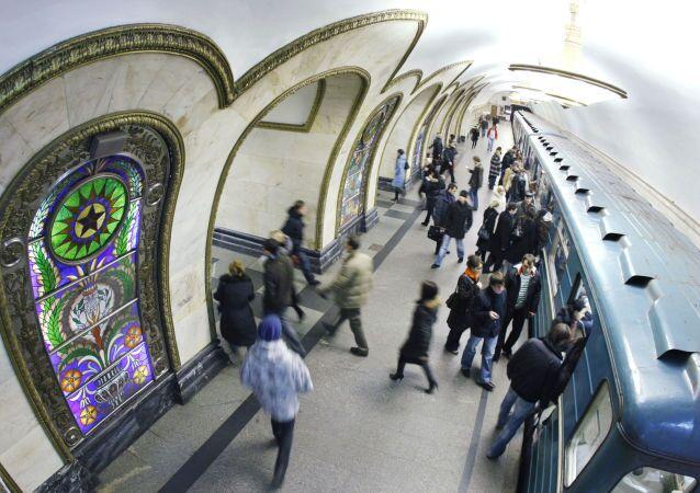 Mosca, la stazione della Metro Novoslobodskaya