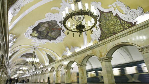 La stazione della metropolitana di Mosca Komsomol'skaya. - Sputnik Italia