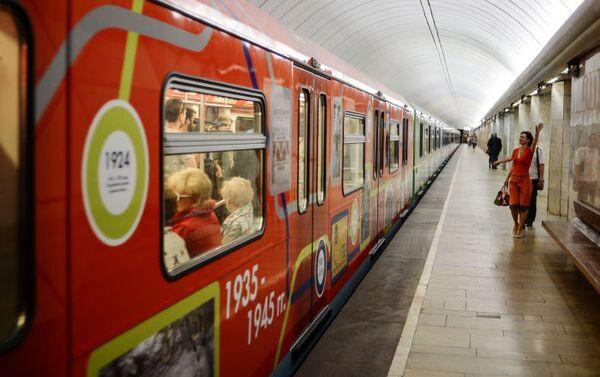 Vagone celebrativo dell'80° anniversario della fondazione della metro di Mosca. - Sputnik Italia