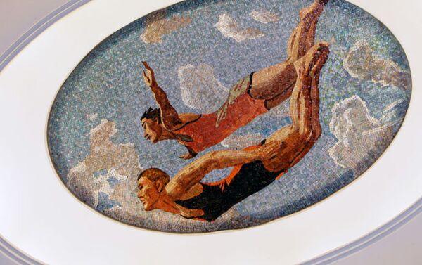 Un mosaico sulla volta della stazione Mayakovskaya. - Sputnik Italia
