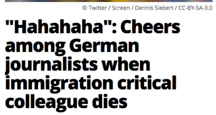 Giornalisti tedeschi si rallegrano