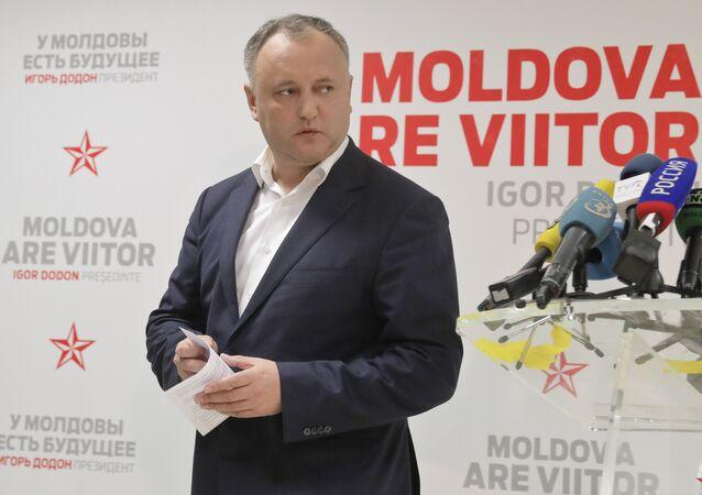 Il Presidente moldavo Igor Dodon