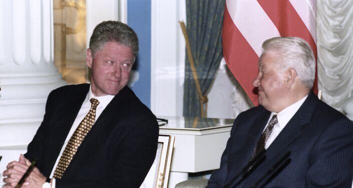 Bill Clinton e Boris Eltsin nel 1988