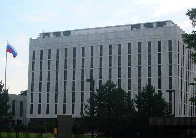 L'ambasciata russa a Washington, USA.