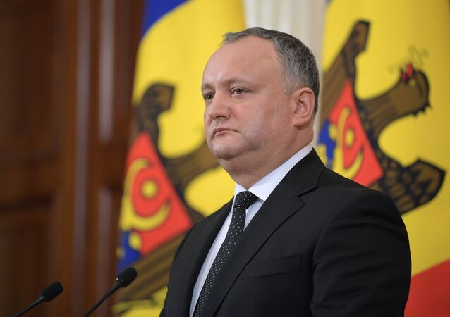 Il presidente moldavo Igor Dodon all'incontro con il presidente russo Vladimir Putin
