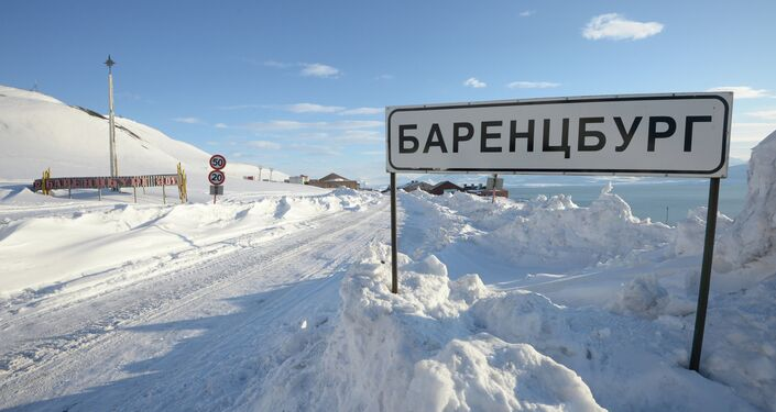 La città russa di Barentsburg sull'aercipelago norvegese Svalbard