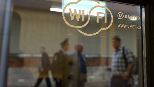 La connessione Wi-Fi disponibile nella metropolitana di Mosca. - Sputnik Italia