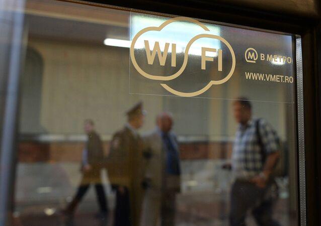 La connessione Wi-Fi disponibile nella metropolitana di Mosca.