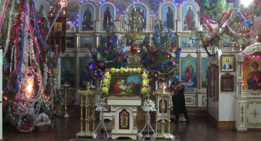 La parrocchia di Snezhnoe, città della Repubblica Popolare di Donetsk