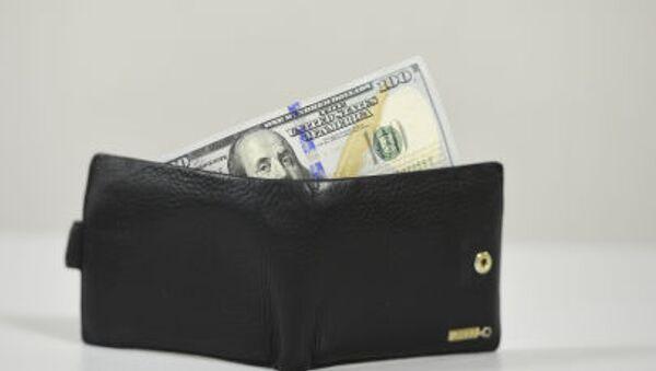 Portafoglio con una banconota da 100 dollari - Sputnik Italia