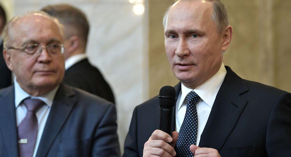 Vladimir Putin all'Università di Mosca (MGU)