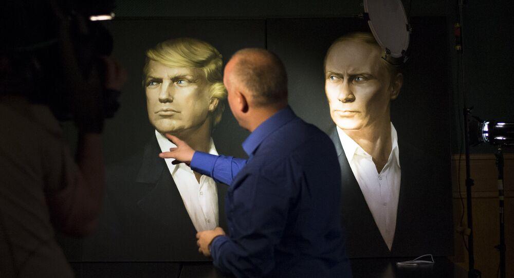 Ritratti di Donald Trump e Vladimir Putin