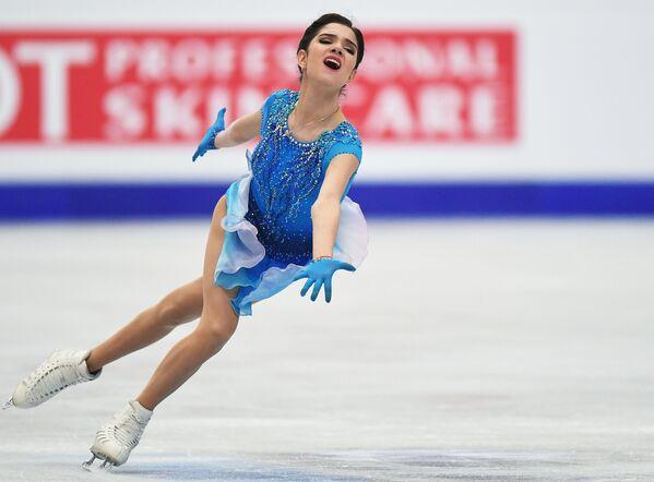 La pattinattrice russa Evgenija Medvedeva ai Campionati europei di pattinaggio artistico a Ostrava, Repubblica Ceca. - Sputnik Italia