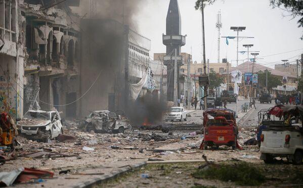 Il luogo dell'assalto dei militanti a un albergo nella capitale della Somalia, Mogadiscio. - Sputnik Italia