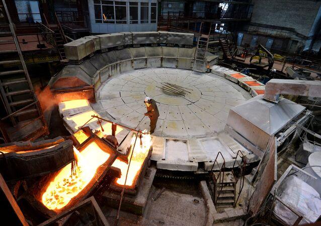 Impianto metallurgico a Chelyabinsk