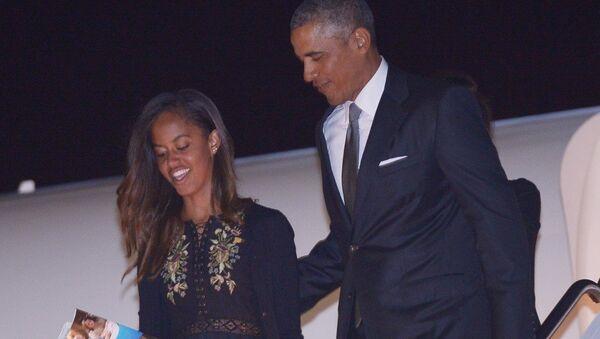 US President Barack Obama and daughter Malia - Sputnik Italia