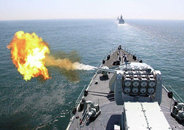 Esercitazioni navali di Russia e Cina nel Mediterraneo (foto d'archivio)