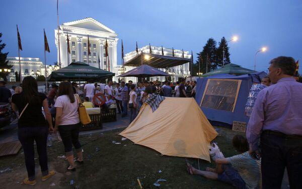 Proteste ad oltranza in Macedonia. - Sputnik Italia