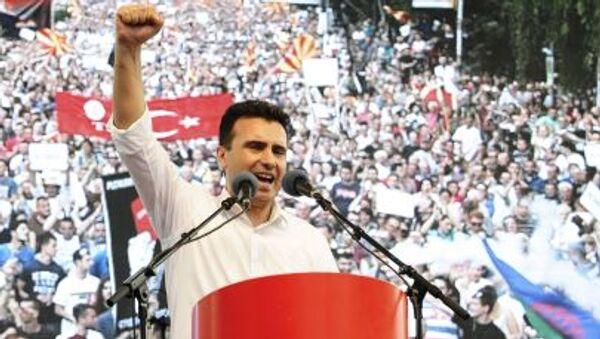 Il leader dell'opposizione macedone Zoran Zaev. - Sputnik Italia