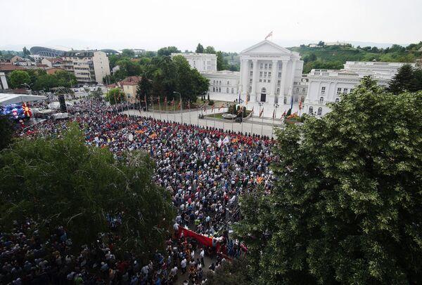 Proteste in Macedonia. - Sputnik Italia