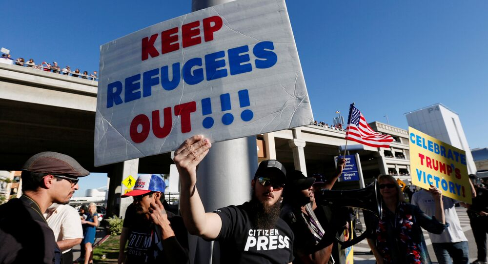 Sostenitori della politica migratoria di Trump