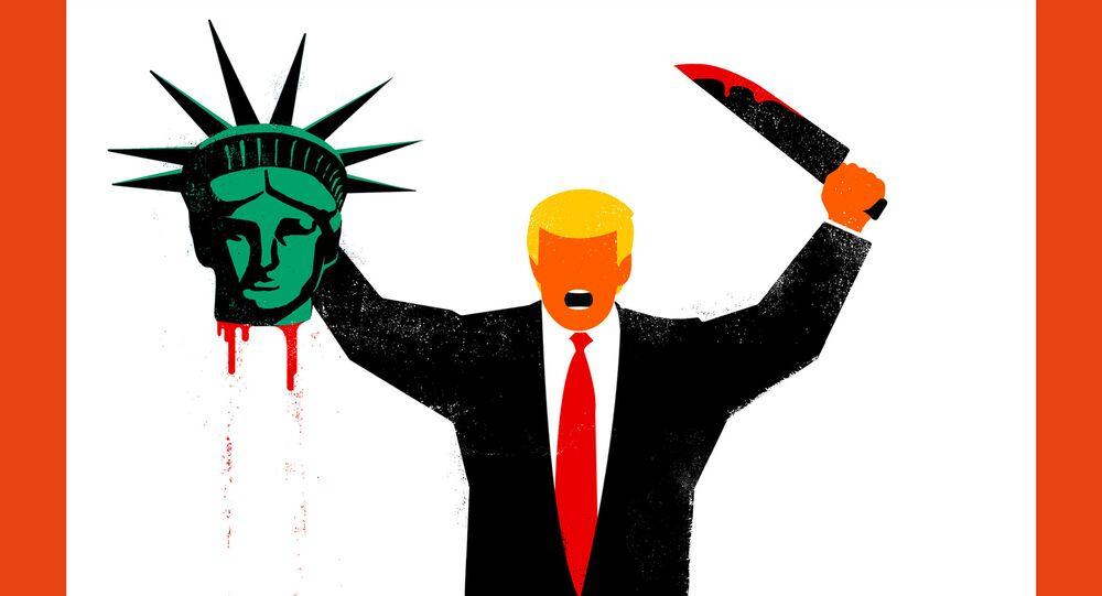 Donald Trump decapita la Statua della Libertà, Spiegel