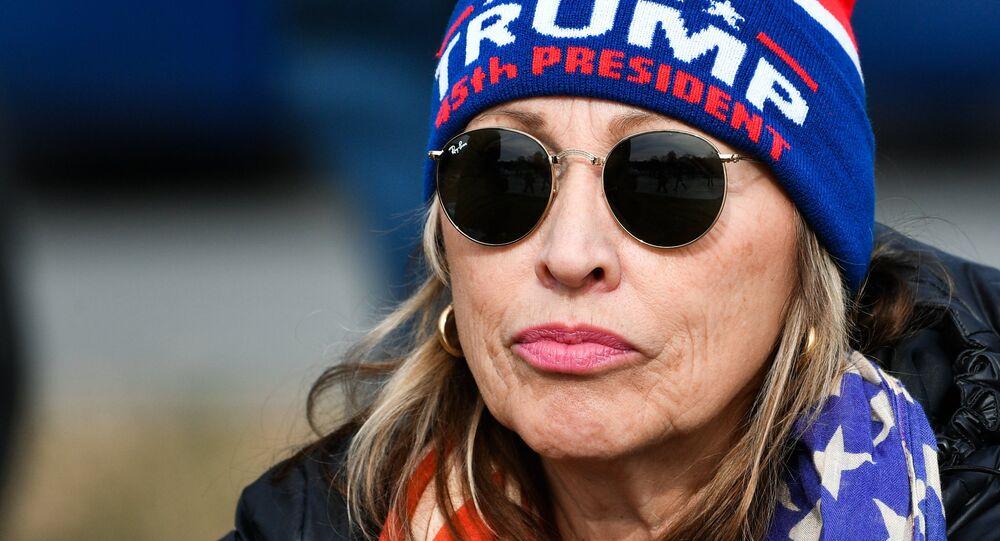 Sostenitrice di Donald Trump alla cerimonia del suo insediamento