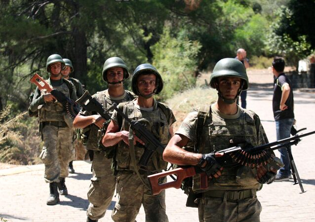 Turkish soldiers search for missing military personnel suspected of being involved in the coup  (File)