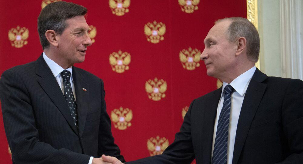 Vladimir Putin e Borut Pahor
