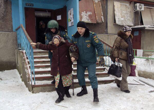 Evacuazione di abitanti di Donetsk dai quartieri pericolosi. - Sputnik Italia