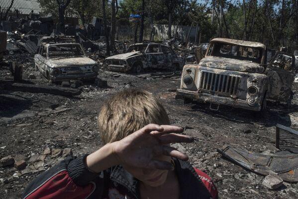Le conseguenze del bombardamento della località di Losovoye nella regione di Donetsk. - Sputnik Italia