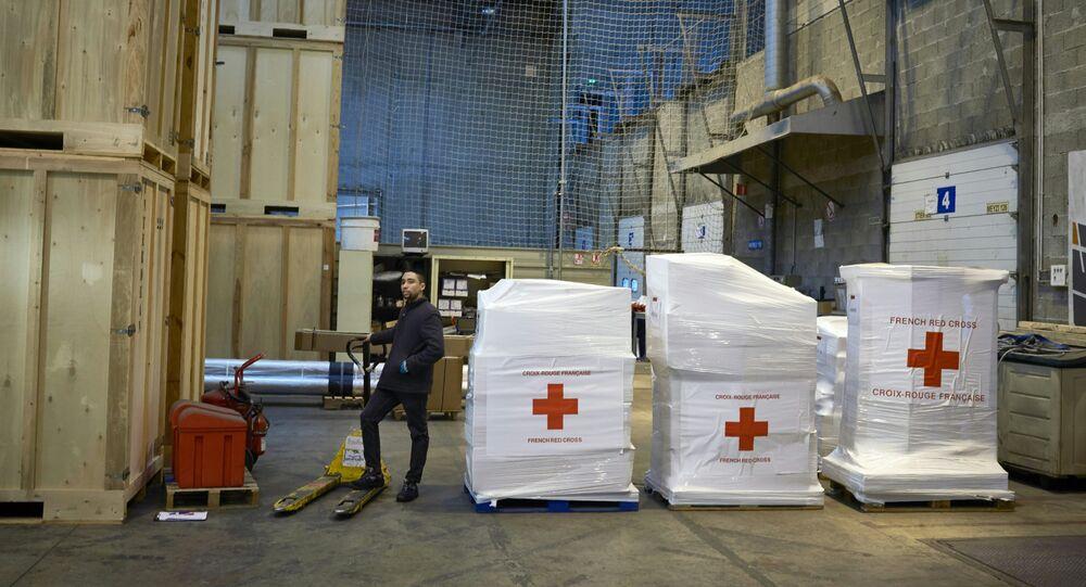 Aiuti umanitari della Croce Rossa