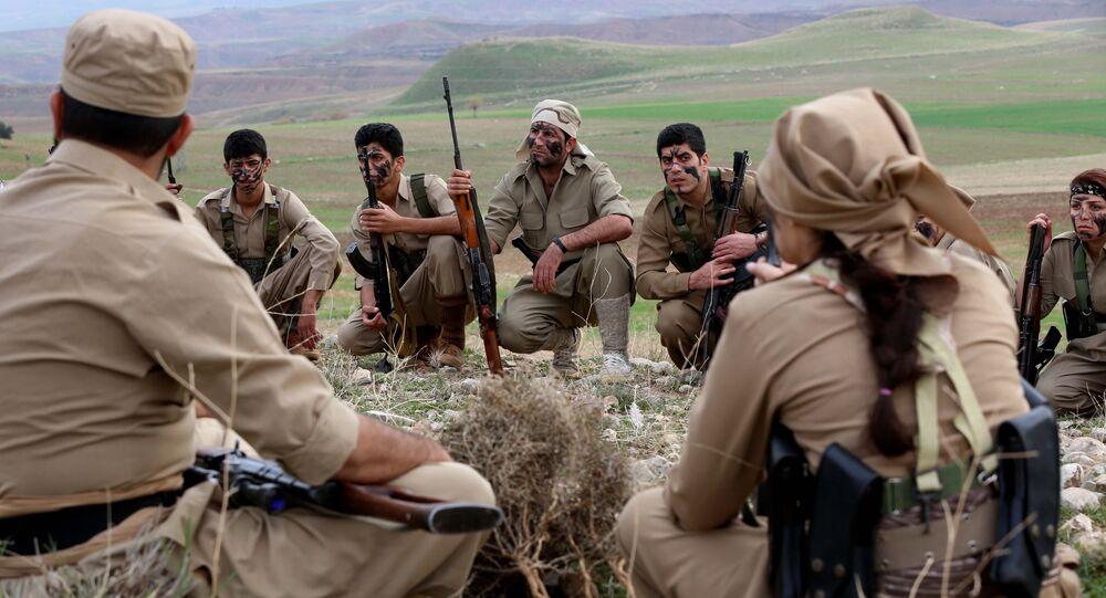 Peshmerga curdi in Iran