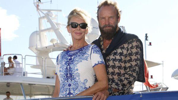 Sting e sua moglie Trudie Styler - Sputnik Italia