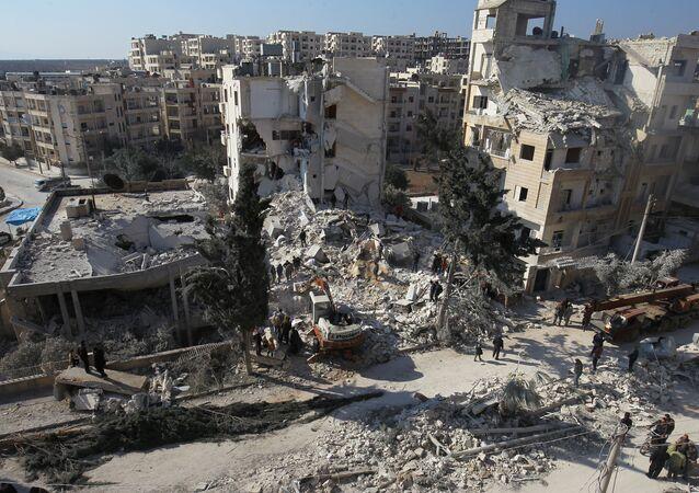 La città di Idlib, Siria