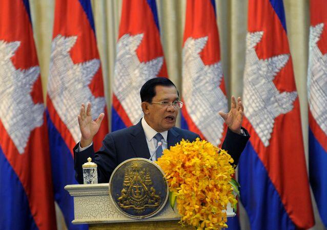 Il premier della Cambogia Hun Sen