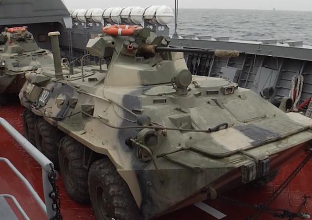 Le esercitazioni dei mezzi da sbarco della Flotta del Baltico