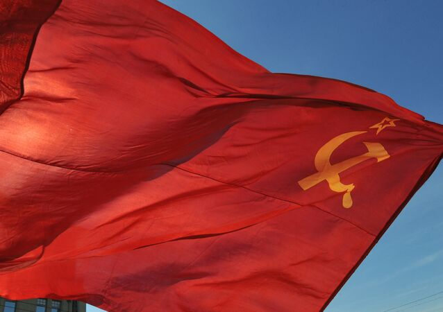 Flag of the Union of Soviet Socialist Republics. (File)