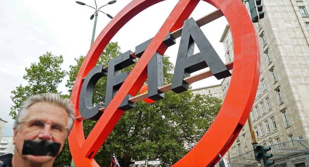 Proteste contro il trattato CETA