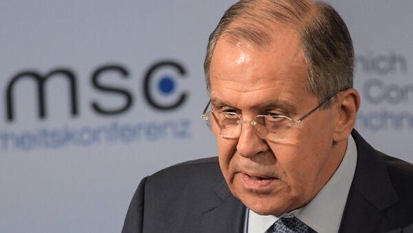 Ministro degli Esteri russo Sergey Lavrov alla Conferenza sulla Sicurezza di Monaco - Sputnik Italia