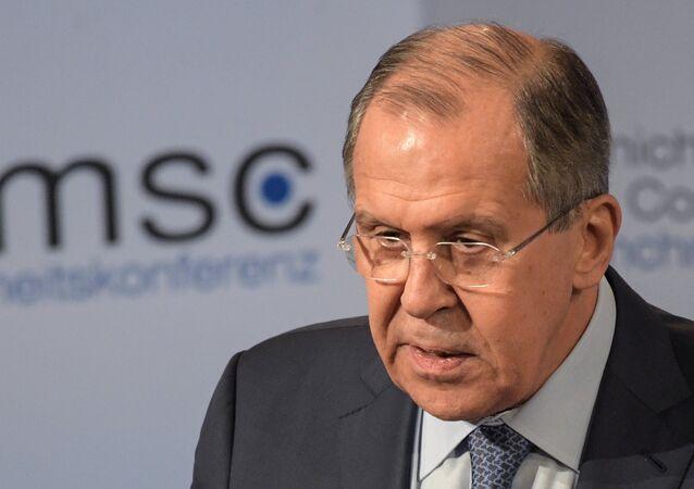Ministro degli Esteri russo Sergey Lavrov alla Conferenza sulla Sicurezza di Monaco