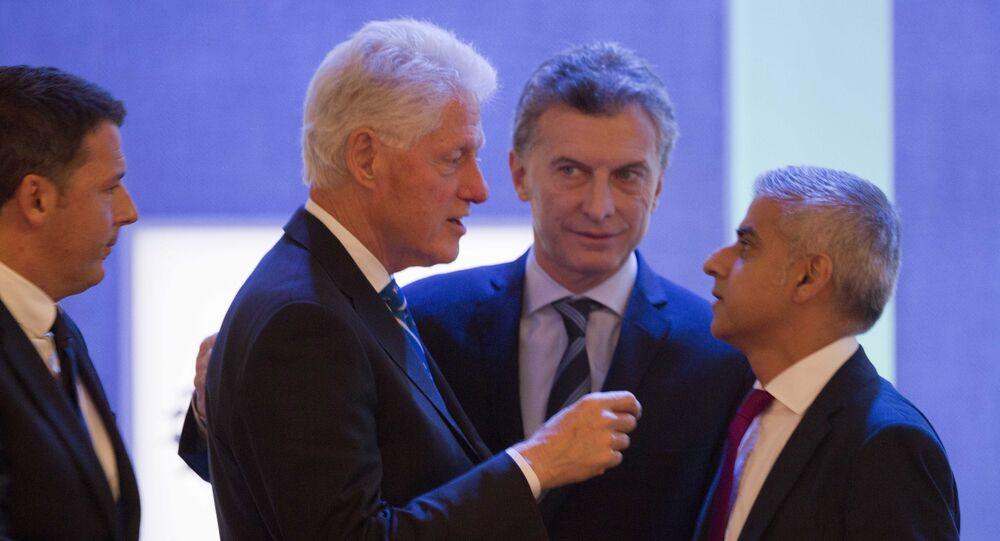 El presidente de Argentina, Mauricio Macri, se reunió en Nueva York con Bill Clinton