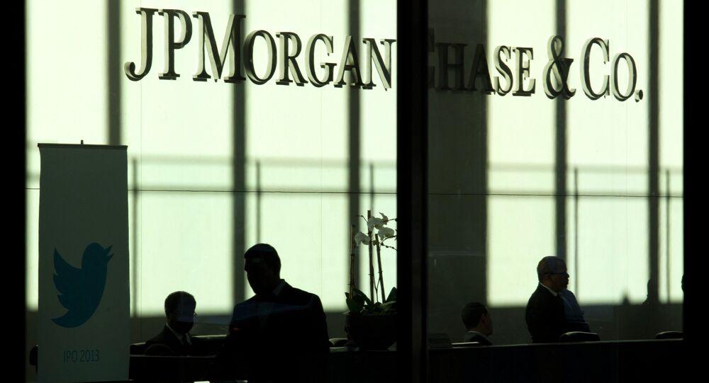 La banca JP Morgan a New York e` il colosso finanziario mondiale