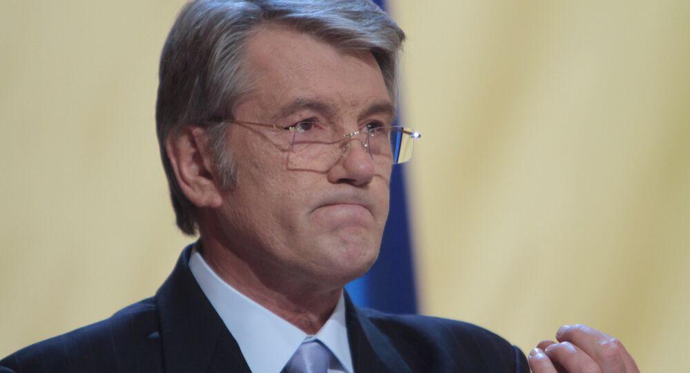 L`ex-presidente ucraino Viktor Yushchenko