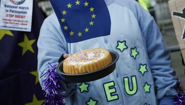 Torta con una bandiera dell'UE - Sputnik Italia