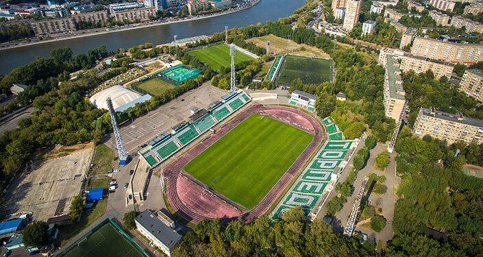 Veduta dall'alto dello stadio della Torpedo Mosca