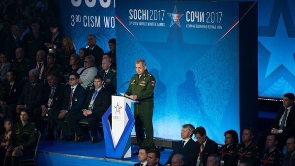 Russian Defense Minister Sergei Shoigu at the opening of the 3rd CISM World Military Winter Games - Sputnik Italia